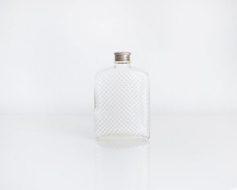 glass flask vintage 20s hip flask 1927 universal art deco image 0