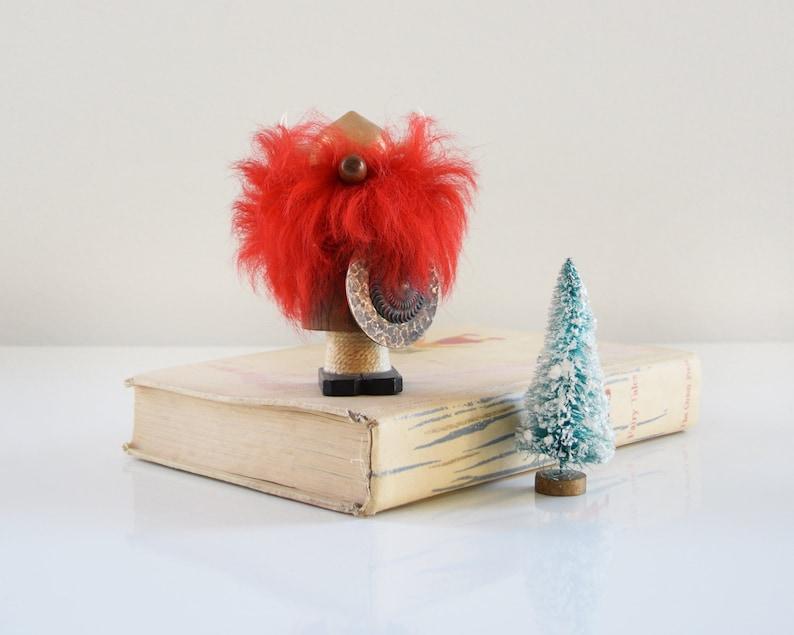 Vintage Wood Viking Mid Century Modern Teak Viking Figurine image 0