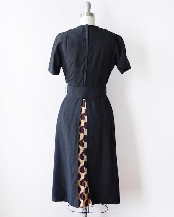 50s cocktail polka 1950s dot dress century mid dress vintage dress small s black rAwTar