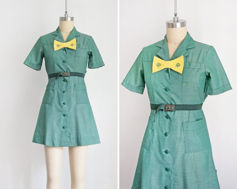 1960s Girl Scout uniform Mid Century Girl Scouts Dress  w/ image 0