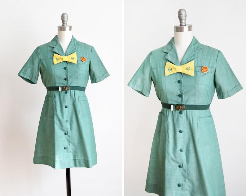 Vintage 60s Girl Scout dress 1960s Girl Scouts Uniform w/ image 0