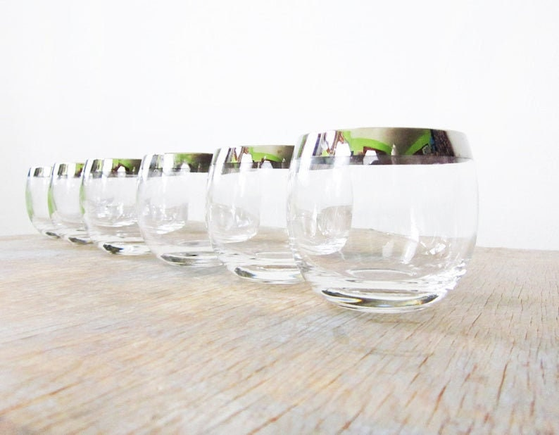Mad Men Glasses Silver Dorothy Thorpe Roly Poly Glasses image 0