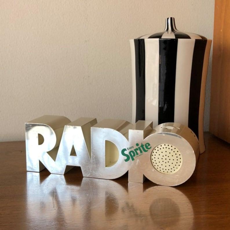 Vintage Sprite Logo Advertising Radio Portable Am Fm Soda Pop