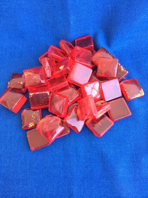 Vintage Bakelite Red Square Pieces For Jewelry Making Crafts Art Projects Game Dice Etc