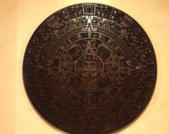"Huge Custom CNC carved Aztec calendar  ""Very Stunning"""