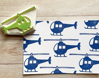 helicopter rubber stamp   aircraft stamp   hand carved stamp by talktothesun   stamps for card making, travel journal, diy birthday