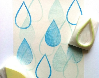 rain drop rubber stamps   tear drop stamps   weather stamp   hand carved stamps by talktothesun   stamps for scrapbooking, spring crafts