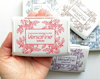 versafine ink pad | tsukineko rubber stamp ink pad | oil based pigment ink for uncoated paper | detailed fine stamping | diy | choose 1