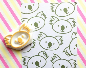 baby koala rubber stamp | australian animal stamp | birthday baby shower card making | diy favor bags | hand carved by talktothesun
