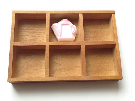 Merveilleux Rubber Stamp Storage Tray Wooden Desk Organizer Wooden | Etsy