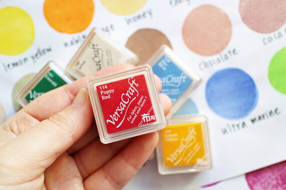 artigianato tampone inchiostrato inkpad di carta legno tessuto 15 colori disponibili per timbri Light Blue