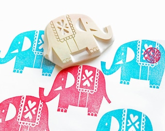 elephant rubber stamp   safari animal stamp   hand carved stamp by talktothesun   stamps for card making, block printing, diy birthday