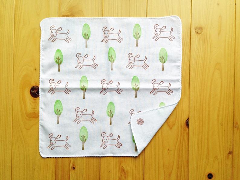 japanese kids cotton hankie reusable baby mouth wipe happy dog handkerchief eco friendly dog lover gift children hand wipe