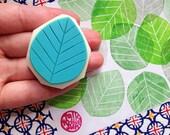 leaf rubber stamp | botanical stamp | hand carved stamp by talktothesun | stamp for card making, summer & autumn crafts | plant lady gift