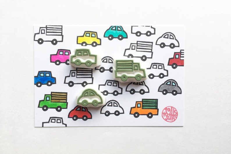automobile rubber stamps  car & truck stamps  vehicle hand image 0