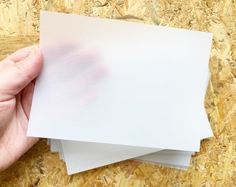japanese tracing paper   A6 blank tracing paper postcard   vellum postcard   heavy weight  175g/m2   set of 10   junk journal kit