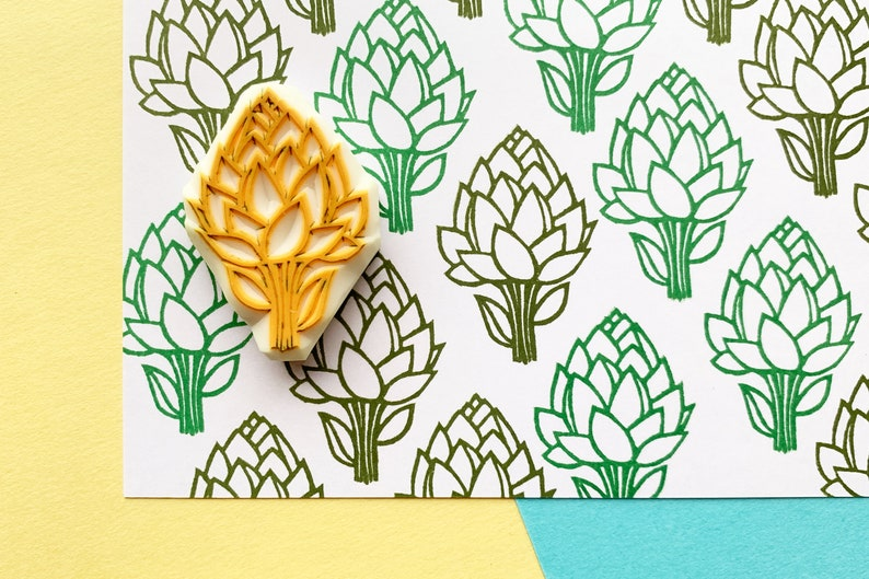 artichoke rubber stamp  vegetable stamp  farmer stamp  image 0