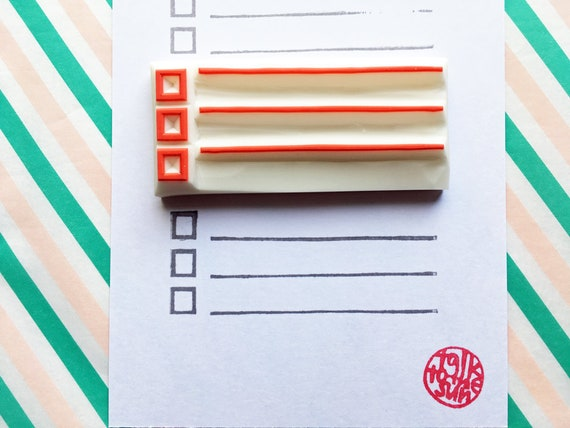 to do list rubber stamp habit tracker diy planner etsy