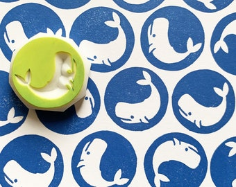 whale rubber stamp   sea animal stamp   hand carved stamp by talktothesun   stamp for card making, journaling, summer crafts   gift for kids