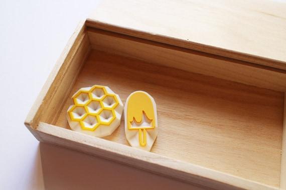 Wooden Gift Box Rubber Stamp Storage Box Desktop Organizer | Etsy