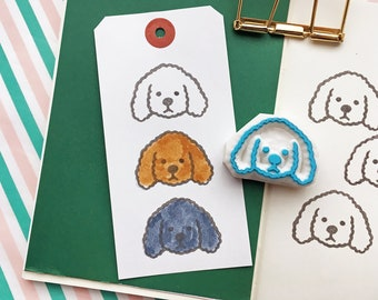 toy poodle rubber stamp   puppy dog stamp   animal stamp   hand carved stamp by talktothesun   stamps for card making   dog lover gift