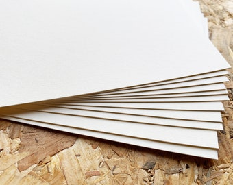 japanese cotton white paper postcards   blank A6 size cards for card making, drawing, painting, block printing   348.8g/m2   set of 20