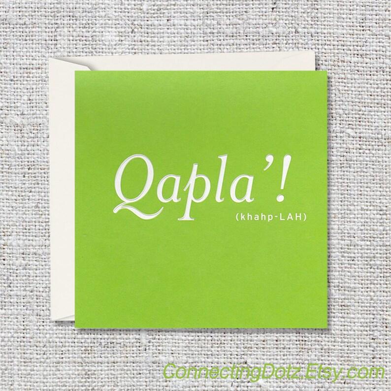 Qapla' Greeting Card image 0