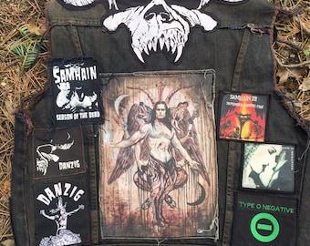 Samhain Danzig werewolf demon patch , back patch size , heavy metal baphomet halloween black patches