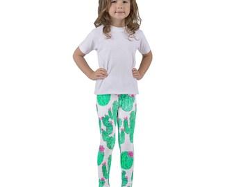 Cactus Leggings - Kid's Leggings - Printed Leggings - Fun Leggings