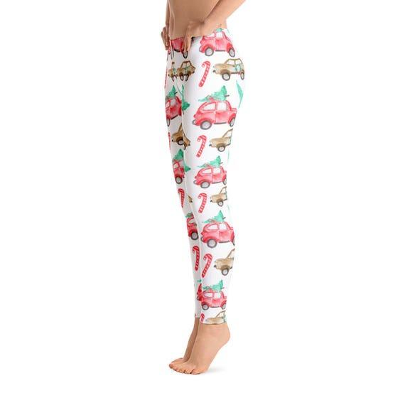 Printed Christmas Leggings For Women Christmas Yoga Pants