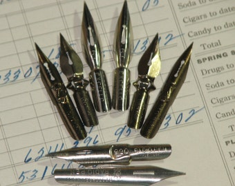 8 Assorted Vintage Pen Nibs -  II