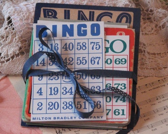 Vintage Bingo - Lotto Cards - Bakers Dozen