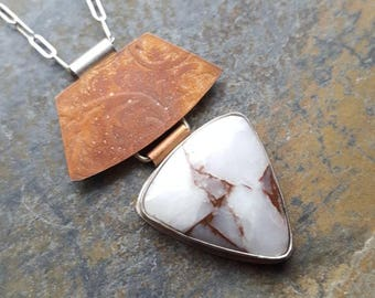 Copper in Quartz Necklace