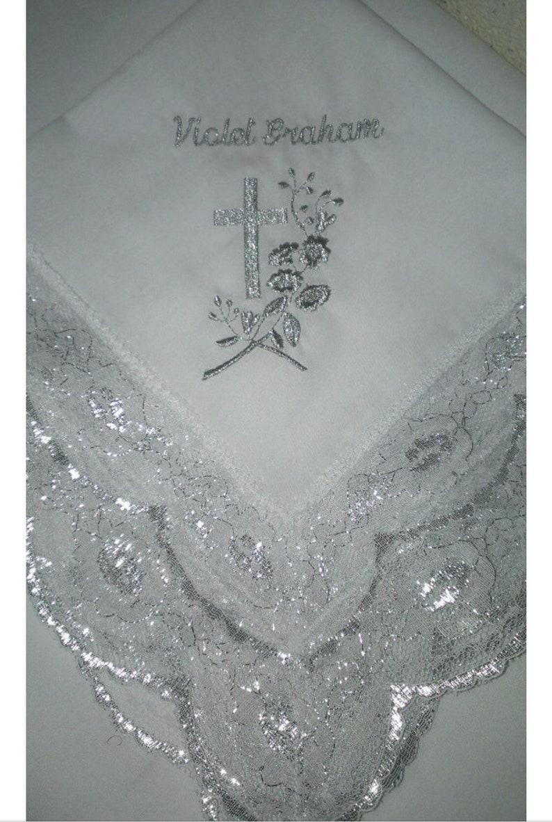 Custom Women\u2019s Handkerchief Church Womens Handkerchief First Lady Church Handkerchief Embroidered Womens Handkerchief Lace Handkerchief