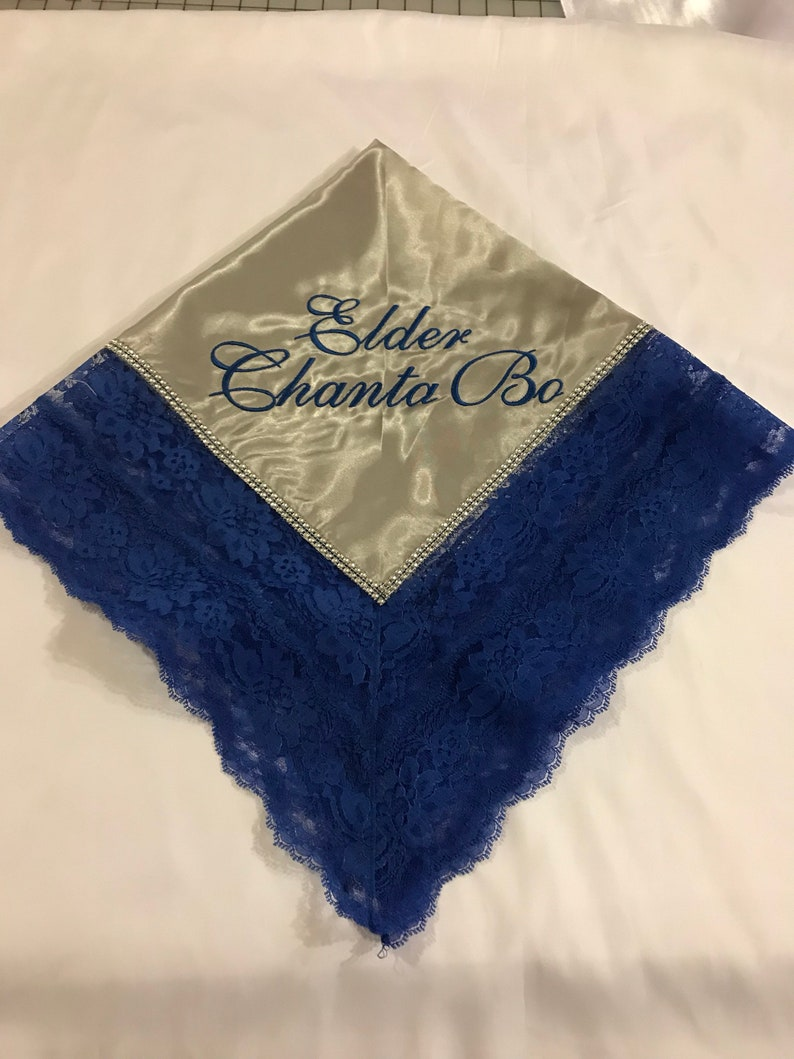 Faux Rhinestones Church Lap Cloth Lap Scarves Personalized Church Lap Scarves First Lady Satin Lace Lap Scarf Embroidered Lap Scarf