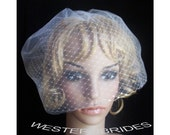 DOUBLE LAYER bridal tulle and Russian net face veil . Brand new with  comb ready to wear