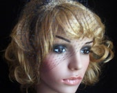 Wedge vintage 50 style Bridal Black Russian face veil . Brand new with comb ready to wear