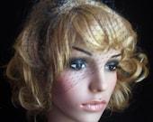 Custom order of 7 BRIDESMAIDS VEILS Wedge vintage 50 style Bridal Black Russian face veil .