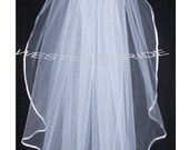 OFF WHITE 1 tier Elegant Wedding Bridal veil.. elbow lenght with silver comb ready to wear