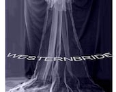 3 TIER CATHEDRAL VEIL.  ready to wear , silver comb ,dettachable .White or ivory choice of color