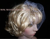 On side  Bridal Ivory  , or white or diamond white, you choose .Russian face veil . Brand new with comb ready to wear