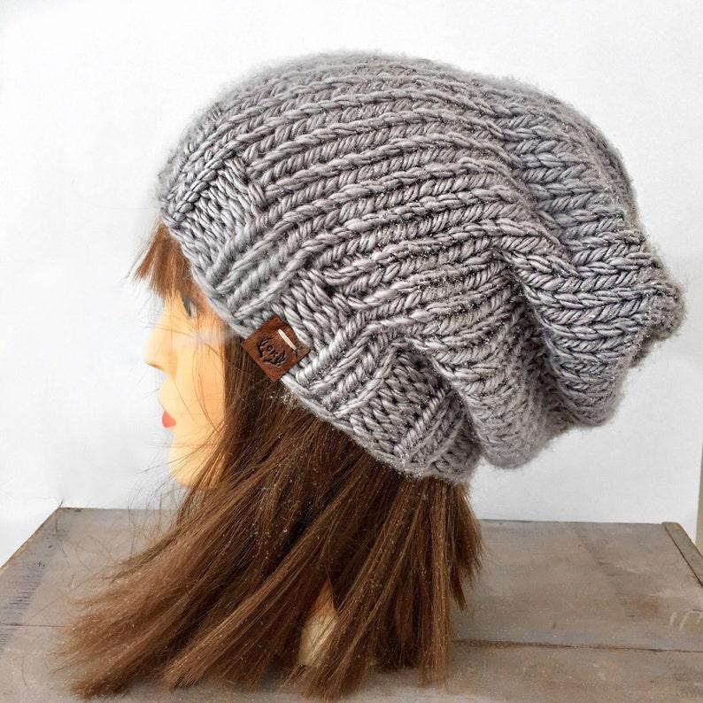 bf20b82286d Slouchy Beanie   Hand knitted beanie   knit beanie   winter