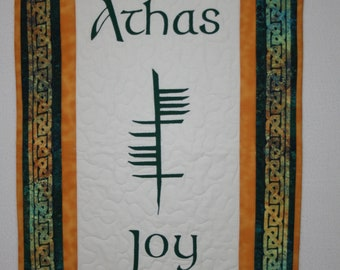JOY, wall hanging or Table runner