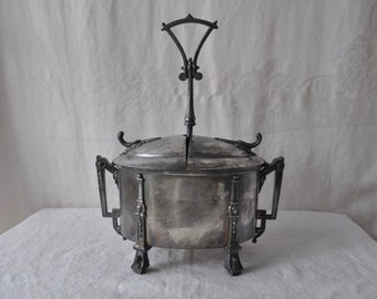 Magnificent Rare Antique Silver Plate Egg Carrier Caddy