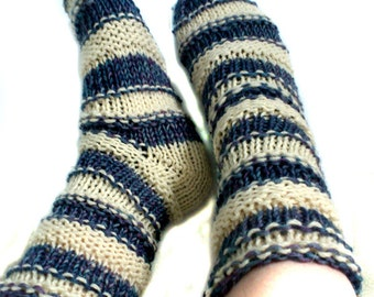 Socks Slippers Bulky Knitting Pattern Quick Easy Boots Booties Handmade Adults Teens Women Men Tutorial Download
