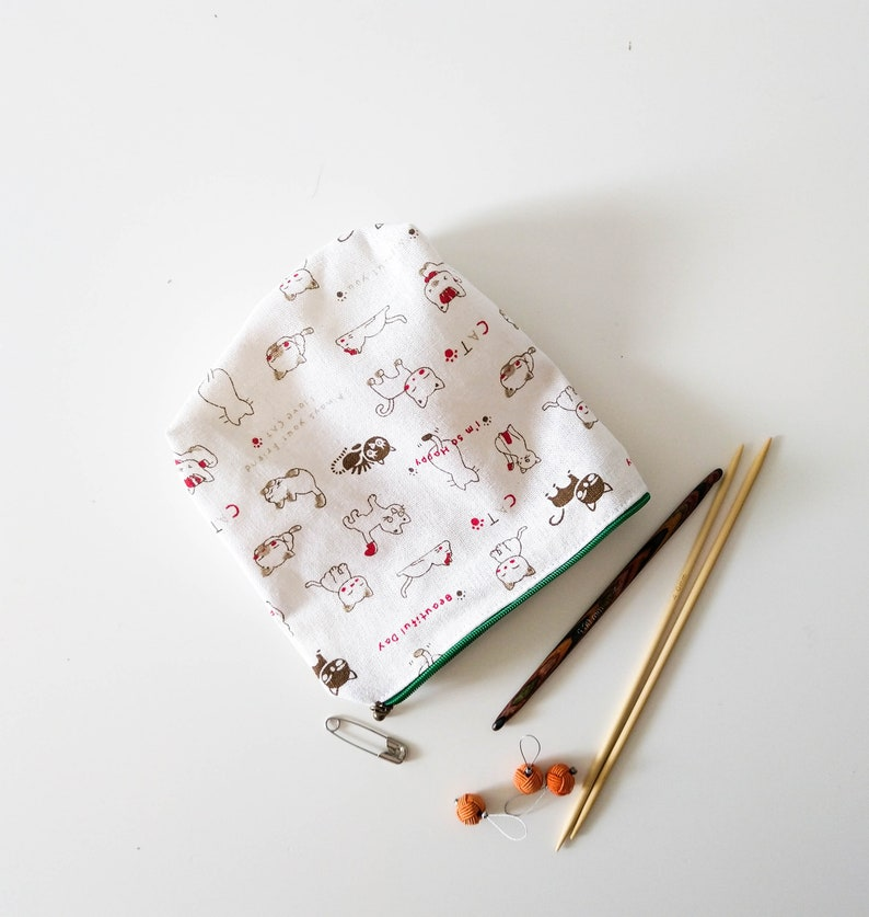 Handmade Notions Bag Knitting Crochet Makeup Pouch Purse Money image 0