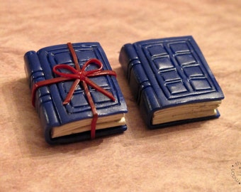 River Song Tardis Diary Polymer Clay. Diary Doctor Who Inspired Jewelry Charm Necklace Miniature Geek Dr Who Mad Man Blue Box Book Nerd
