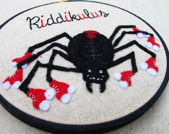 Riddikulus Harry Potter Inspired Embroidery Hoop Art. Embroidery Hoop Wall Art Stitched Text Potterhead Boggart Banishing Spell Spider Skate