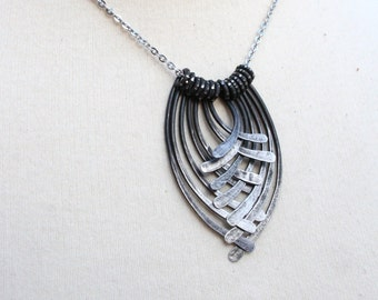 Iron Jewelry - 11th Anniversary Gift, 6th Anniversary Gift, Forged Iron Statement Necklace, Iron Anniversary, Steel Anniversary