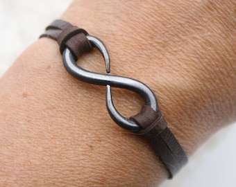 Infinity Bracelet, 6th Anniversary Gift, Iron Anniversary Gift, Iron Bracelet, Iron Jewelry, Infinity Jewelry